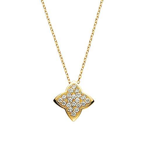 [ヴァンドーム青山] ダイヤモンド 0.18ct イエローゴールド K18 ネックレス AGVN644945DI