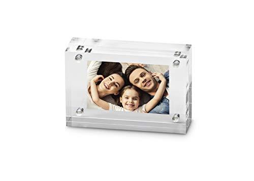 Maul 1954605 Bilderhalter aus hochwertigem Acryl, 1 Stück, Transparent, 7.5 x 5 x 2 cm