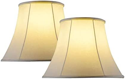 Lampshades for Table Lamp Set of 2 Large Bell Lamp Shades for Table Lamps Fabric Off White 10x16x14 product image