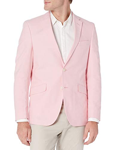 Kenneth Cole Unlisted Men's Stretch Chambray Blazer, Pink, 40R
