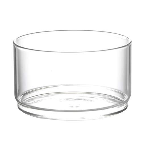 Hemoton Salatschüssel Glas Rührschüssel Runde Transparente Dessertschalen Obstschale Hitzebeständige Glasschale Tiefe Schale für Süßigkeiten Obst Dessert Weihnachten Tischdeko