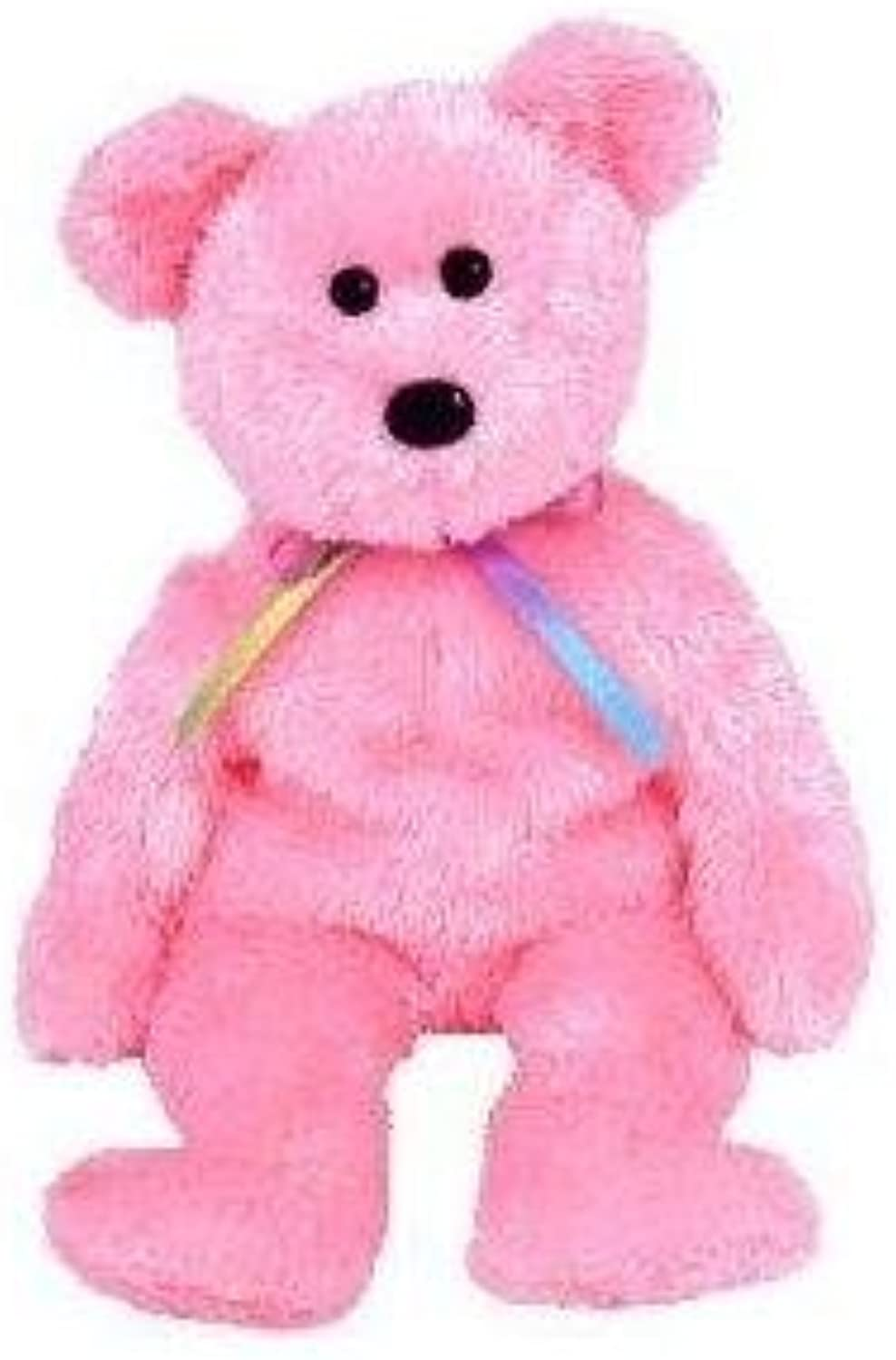 TY Beanie Baby  SHERBET the Bear (Pink Version) by Ty TOY (English Manual)