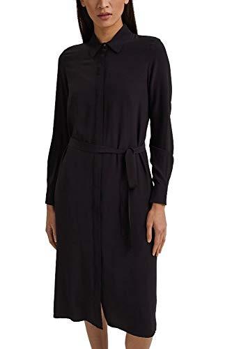 ESPRIT Collection 991EO1E305 Vestido, 001/Black, 44 para Mujer