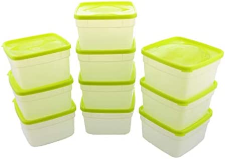 Arrow Reusable Plastic Storage Container Set 10 Pack 1 Pint 16 Ounce Each Food Meal Prep Leftovers product image