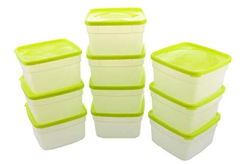 Arrow Reusable Plastic Storage Container Set, 10 Pack, 1 Pint/16 Ounce Each