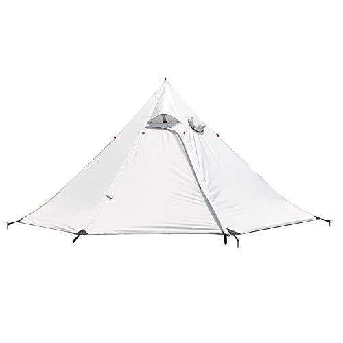 Heritan Tienda pirámide de camping ultraligero grande sombra refugio Teepee con orificio para tubo de estufa para mochileros al aire libre senderismo