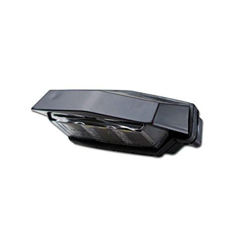 LED Motorrad Kennzeichenbeleuchtung Flat, schwarz, ABS, 3 LED s, B 59 x H 20 x T 29mm, Kabel 40cm, Egeprüft /Stück