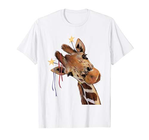 'Good Time Giraffe' Party Animal Drawing T-Shirt Clothing