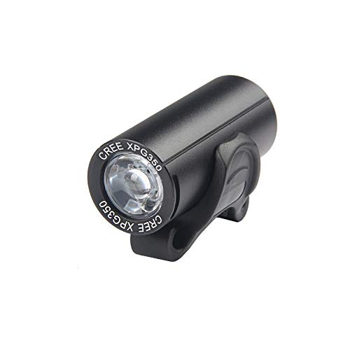 liutao Cycling Headlights Bike Front Light LED USB Rechargeable MTB Front Light 350 Lumens Bicycle Head Lamp 3W Cycling Headlight Built-in Battery Bike Lights (Color : Black)