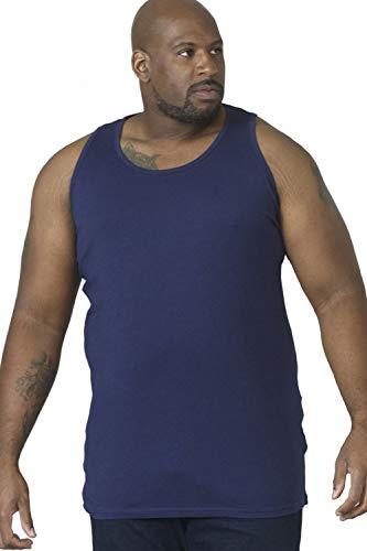 Hommes Duke D555 Fabio King Size Neuf Gros Large Muscle Débardeur XL Tailles Débardeur - Bleu marine, 4XL