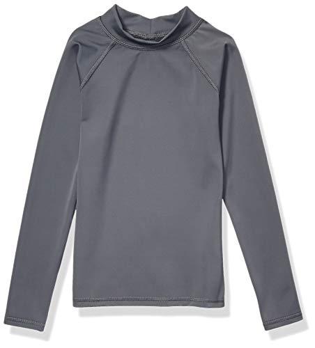 Amazon Essentials Kids Boys UPF 50+ Long-Sleeve Rashguards, Dark Grey, X-Large