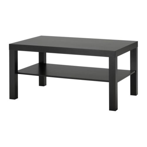 IKEA LACK coffee table, Standard, Black-brown