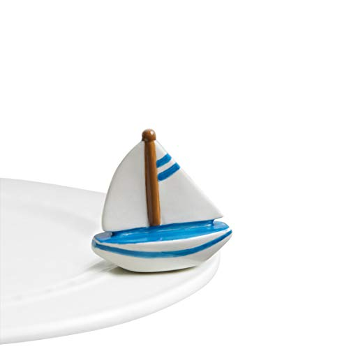 Nora Fleming Sailboat Mini - Nora Fleming Sail Me Away Mini A136 by Nora Fleming