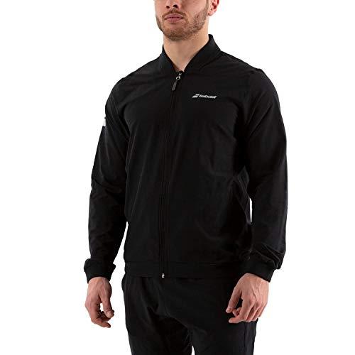 Babolat Men's Play Tennis Training Jacket, Black/Black (US Size Large)