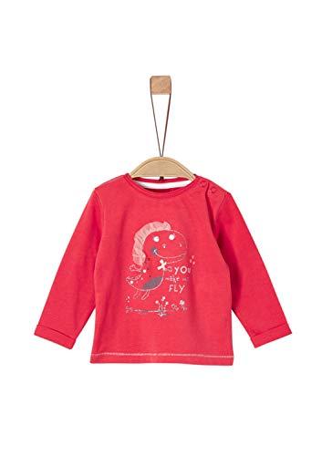 s.Oliver Baby-Mädchen 65.908.31.8816 Langarmshirt, Rot (Red 3420), (Herstellergröße: 92)