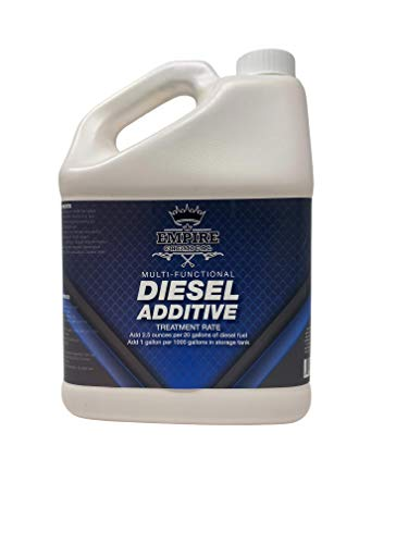 Empire Chemical Multi-Functional Diesel Additive - Best Diesel Additive to Increase Fuel Economy - Lubricity - 2.5 Ounces Per 20 Gallons of Diesel Fuel - All Season