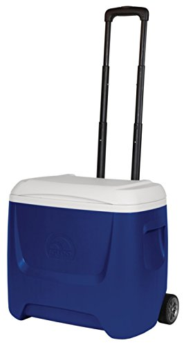 iGloo Island Breeze 28 - Nevera portátil con ruedas mixta para adulto, Azul, 47 x 34 x 41 cm
