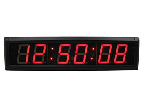 GANXIN LED Countdown Clock /Up Digital Timer, 12/24-HourTime Clock, Stopwatch LED Wall Clock with Remote Control, Use Indoor Led Chronometer