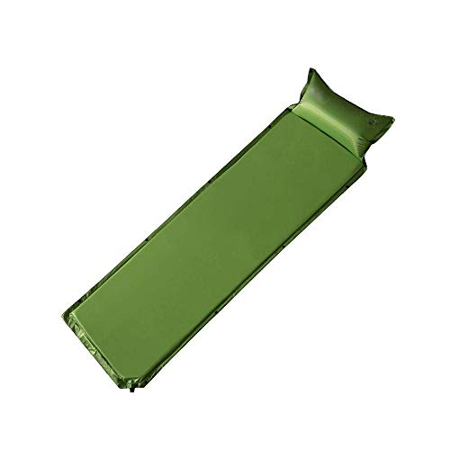 JKLL Outdoors Best self Inflating Sleeping pad, Lightweight and Compact, Ideal Backpacking Sleeping mat for Camping, Hiking and Traveling Perfect in a Mummy or Envelope Sleeping Bag (Color : Green)