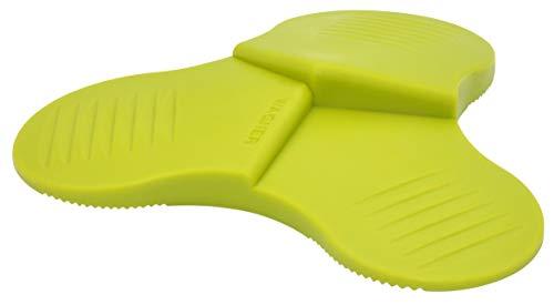 WAGNER Bodentürstopper - 3STOP - Kunststoff Elastomer, preisausgezeichnet, grün, 108,5 x 19,1 mm - 3 unterschiedliche Keilhöhen, diverse Anwendungen - 15698601