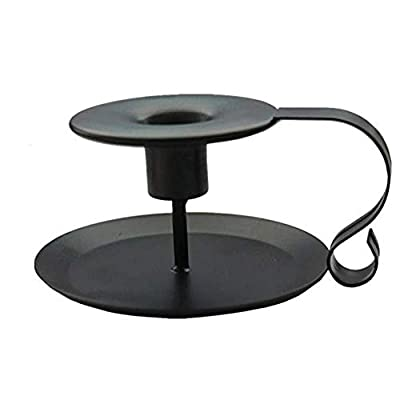 PRINTEMPS Wrought Iron Taper Candle Holder,Iron Candle Holders,Matte Black