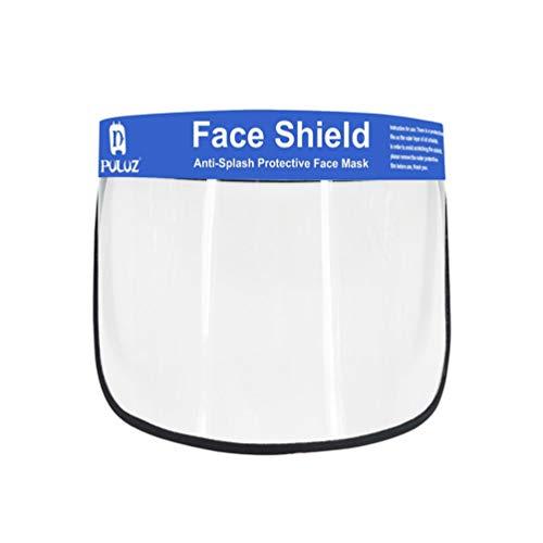 Exceart Gesichtsschutz mit Visier Gesichtsschutzmaske Transparent Gesichtsschild Schutzmaske Augenschutz für Zuhause Reisen Waldarbeiter Automobilbau Schweißen Schleifen Weiß