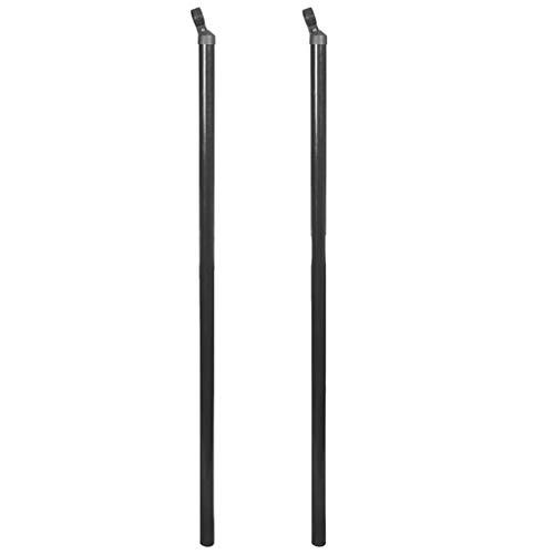 vidaXL 2x Steunpaal voor Ketting Hekwerk 170 cm Grijs Tuinpaal Paal Hekpaal