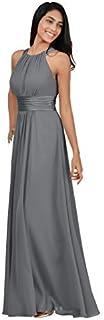 فستان وصيفة العروس Alicepub Halter شيفون طويل للحفلات الرسمية للنساء مناسبة خاصة