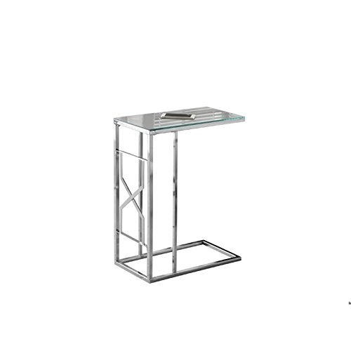 Monarch Metal Accent Table with Mirrored Surface Area, Chrome