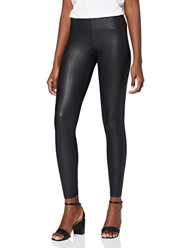 PIECES Damen New Shiny NOOS Leggings, Schwarz (Black Black), 40 (Herstellergröße: L/XL)