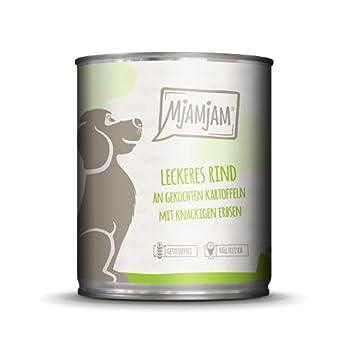 MjAMjAM Alimentation Humide Mix Pack I 2 x Poulet/Canard, 2 x Bœuf, 2 x Dinde de Courgettes pour Chien