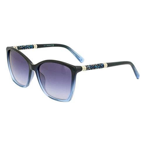Swarovski Damen Sk0148-5690w Sonnenbrille, Shiny Blue/Gradient Blue, 56/15/135