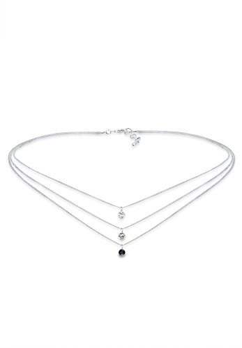 Elli Collares Capa de gargantilla para damas con cristales de Swarovski® en plata esterlina 925