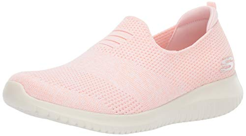 Skechers Damen Ultra Flex-Harmonious Slip On Sneaker, Pink (Light Pink Ltpk), 38.5 EU