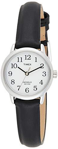 Timex Easy Reader 25 mm Women's Black Leather Strap Indiglo Quartz Watch...