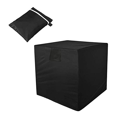 Unihom Air Conditioner Cover Square AC Cover for Outside Unit Waterproof& Dustproof Air Conditioner Accessories Fits Up To 24x24x30 inches