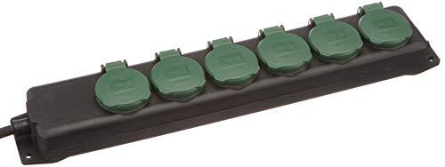 REV 0512469555 Steckerleiste, Outdoor Steckdosenleiste 4fach, 1,4m max. 3500W, schwarz