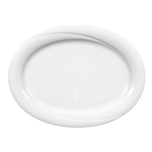 Platte oval 28 cm 2 Stück Laguna weiss uni 00006 von Seltmann Weiden