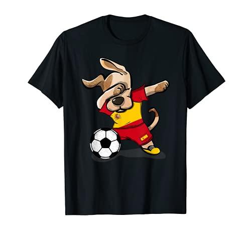 Dabbing Dog Fútbol de España Fútbol de bandera española Camiseta
