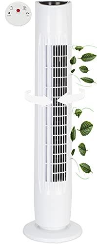 Ventilador de torre silencioso, mando a distancia, ventilador de torre | ventilador de pie | ventilador de columna | ventilador de suelo | temporizador | enfriador de aire