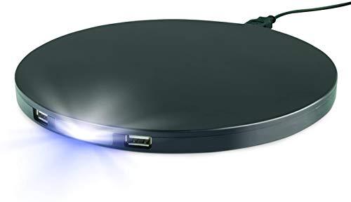 Ideaworks Base de lámpara USB con luz nocturna
