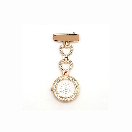 JR2021FF Relojes Fob Enfermera Trabajo artefacto Mujer Doctor Bolsillo Reloj Temperamento Diosa Debe Reloj de Bolsillo de Cuarzo (Color : Gold)