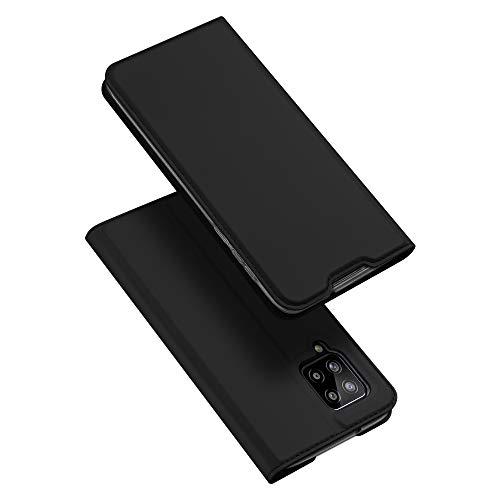DUX DUCIS Hülle für Samsung Galaxy A42 5G, Leder Klappbar Handyhülle Schutzhülle Tasche Hülle mit [Kartenfach] [Standfunktion] [Magnetisch] für Samsung Galaxy A42 5G (Schwarz)