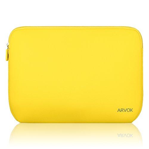 Arvok 15,6 Pulgadas Funda Protectora para Portátiles/Impermeable Ordenador Portátil Caso/Neopreno del Portátil Bolsa para Acer/ASUS/DELL/Fujitsu/Lenovo/HP/Samsung/Sony (Amarillo)