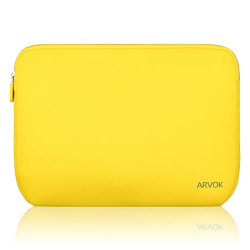 "Arvok - Custodia impermeabile in neoprene da 13"", 13,3"" e 14"", colore giallo"