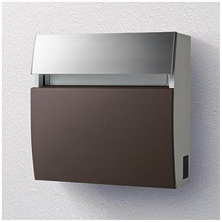 パナソニック製おしゃれ郵便ポスト フェイサスラウンドCTC2203MA(エイジングブラウン) メールボックス
