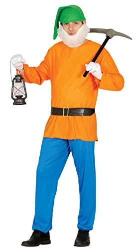 Fiestas Guirca Costume da Gnomo Uomo Nano di Biancaneve