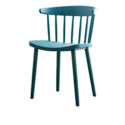 JIEER-C bureaustoel bureaustoel stoel Pranzo rugleuning beugel breed zitvlak sterke capaciteit 8 kleuren 45,5 x 78 cm (kleur: blauw) Donkerblauw