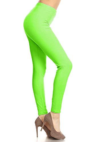 Neon Green Leggings for Women