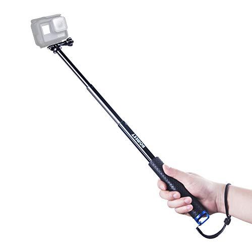 Homeet Palo Selfie para Cámara Deportiva, 49CM Monopié Extensible Camara Deportiva Palo Telescópico para Cámara de Acción y etc【Azul】